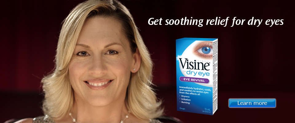 Get soothing relief for dry eyes with Visine Dry Eye Eye Revival